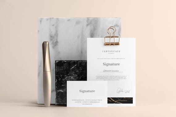 Signature Branding Mockup Vol. 1