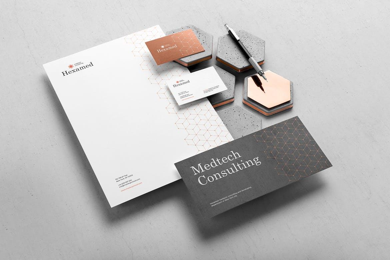 Hexamed Branding Mockup