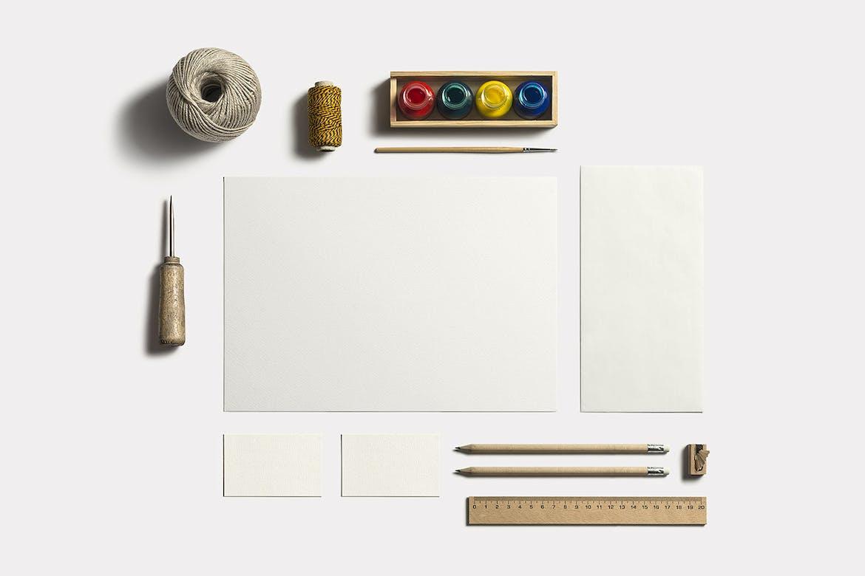 Art & Craft Stationery Branding Mockup
