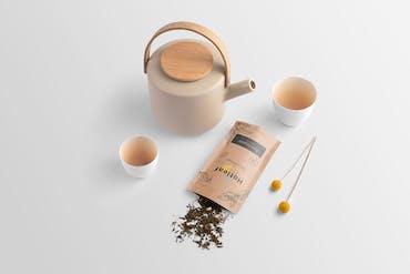 Hotleaf - Free Tea Branding Mockup