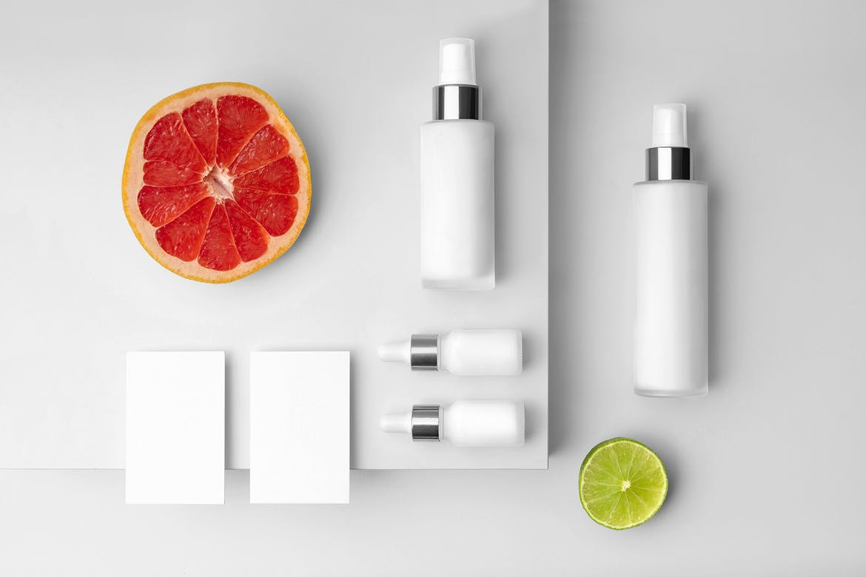 Tropical – Free  Cosmetics Mockup Template