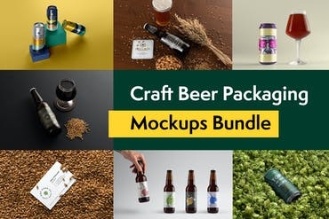 Craft Beer Packaging Mockups