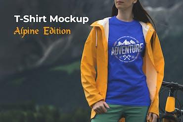T-Shirt Mockup Alpine Edition